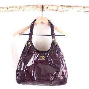 COACH Madison Aubergine/Plum Purple Patent Leather